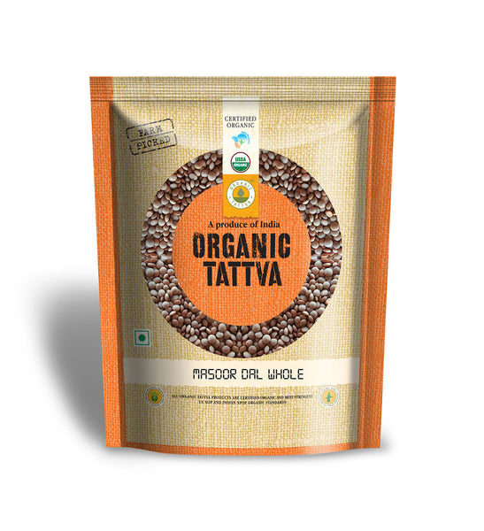 Organic Tattva Organic Masoor Dal Whole 500 gm