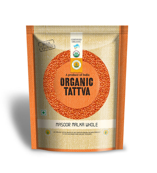 Organic Tattva Organic Masoor Malka Whole 500 gm