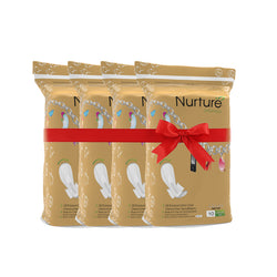 Nurture Chemical Free Ultra Long Sanitary Pads (290mm) - 10 pads pack of 4