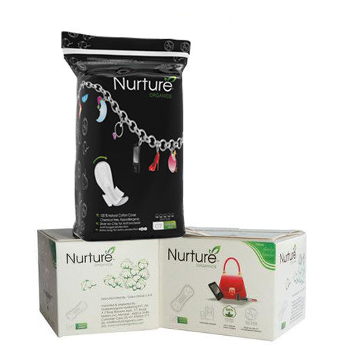 Nurture Combo - TWO Panty Liners and Chemical Free Sanitary Pad