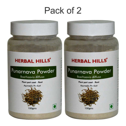 Herbal Hills Punarnava Powder 100Gms Pack of 2