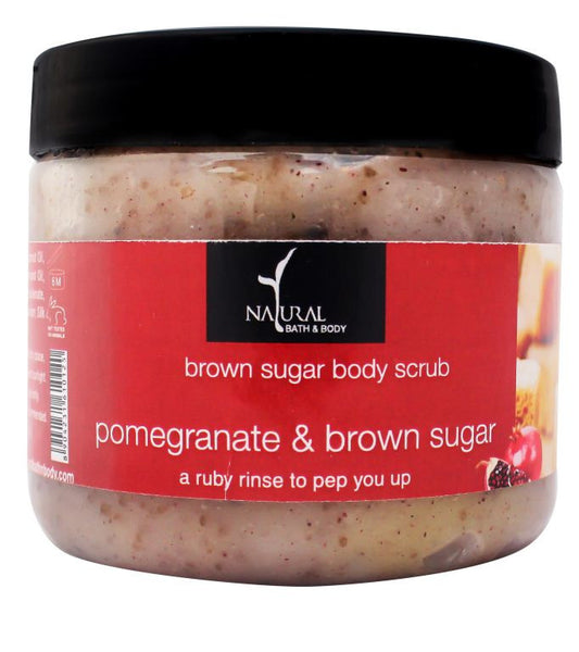 Natural Bath and Body Pomegranate Brown Sugar Body Scrub 200 gms