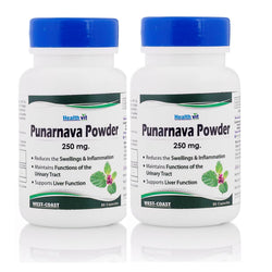 HealthVit Punarnava Powder 250 mg 60 Capsules (Pack Of 2)