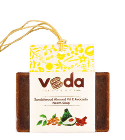Veda Essence Sandalwood Almond Vit E Avocado Neem Natural Handmade Soap