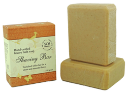 SOS Organics Handmade soap Shaving bar