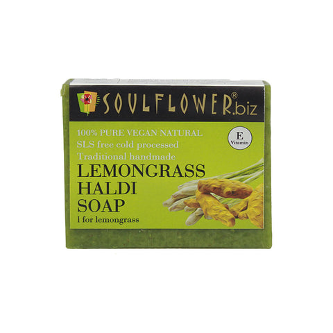 Soulflower Lemongrass Haldi soap