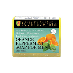 Soulflower Orange Peppermint Soap For Men