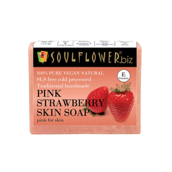 Soulflower Pink Strawberry Skin Soap