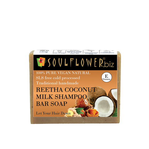 Soulflower Reetha, Coconut Milk Shampoo Bar Soap