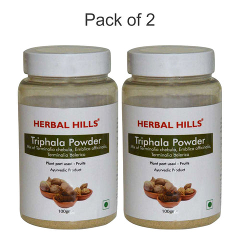 Herbal Hills Triphala Powder 100Gms Pack of 2
