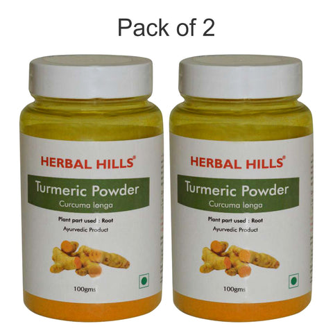 Herbal Hills Turmeric Powder 100Gms Pack of 2