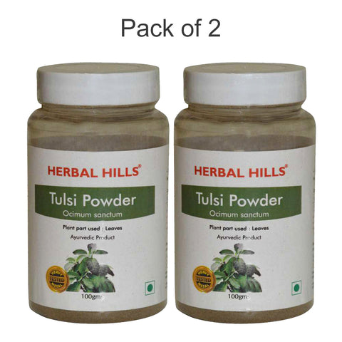 Herbal Hills Tulsi Powder 100Gms Pack of 2