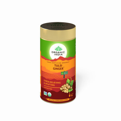 Organic India Tulsi Ginger Tea 100 Gms Tin