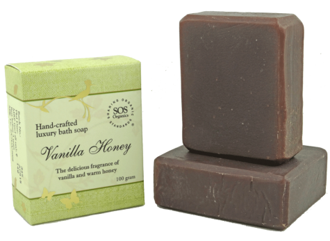 SOS Organics Handmade soap Vanilla honey