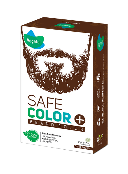 Vegetal Safe Colour Dark Brown For Beard 25 Gms