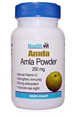 HealthVit AMDA Amla Powder Capsules 250mg(Pack of 2)