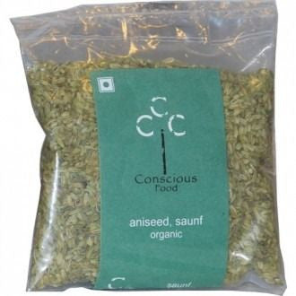 Conscious Food Organic Aniseed / Sweet Fennel (Saunf) 100Gms