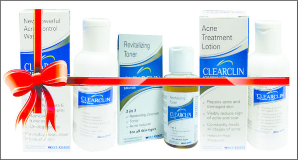 West-Coast - Clearclin Acne Facewash, Lotion, Toner Combo