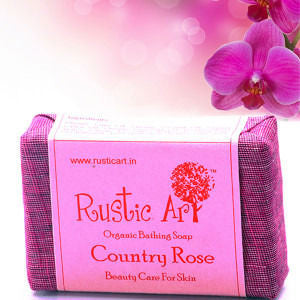Rustic Art - Organic Country Rose Soap - 100 Gms