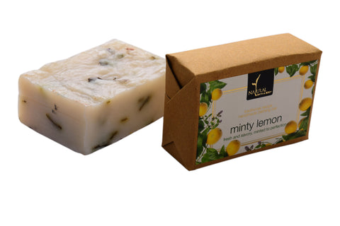 Natural Bath and Body Minty Lemon Bathing Bar 125 gm