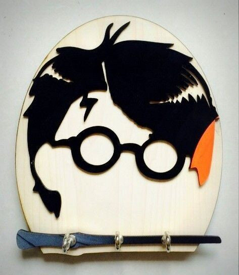 Upcycled Vinyl Record Harry Potter Themed Keyholder