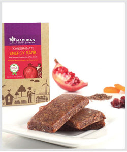 Maduban Naturals Pomegranate Apricot Cranberry Energy Bars - Sugar Free 60Gms