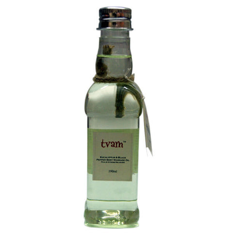TVAM Massage Oil - Eucalyptus & Black Pepper - 190 ml