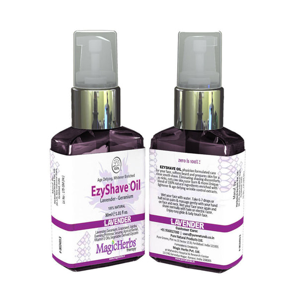 Pure Naturals - EzyShave Oil Lavender -30-ml