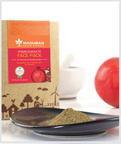 Maduban Naturals Pomegranate Whole Fruit Rejuvenating Face Pack - 50 Gms