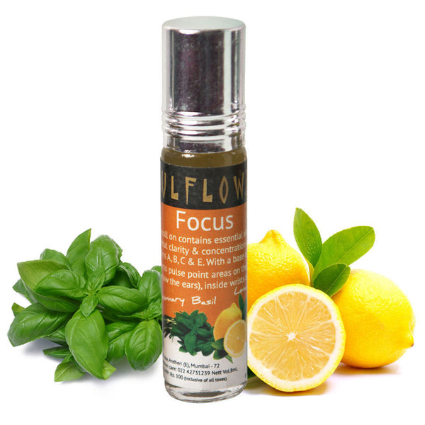 Soulflower Aromatherapy Focus Roll On - 8 ml