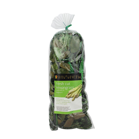 Soulflower Fresh Cut Lemongrass Potpourri - 100 gms