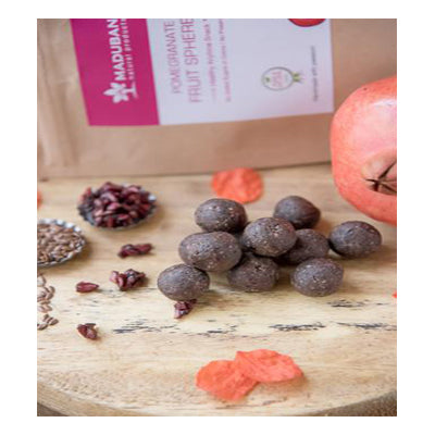 Maduban Naturals Pomegranate Fruit Spheres - Healthy and Sugar Free Snack