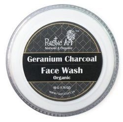 Rustic Art Organic Geranium Charcoal Face Wash Concentrate 50gm