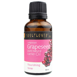 Soulflower Coldpressed Grapeseed Carrier Oil - 30 ml