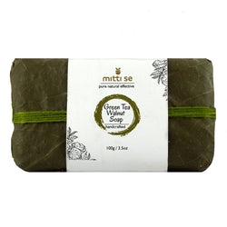 Mitti Se Green Tea & Walnut Soap 100gms