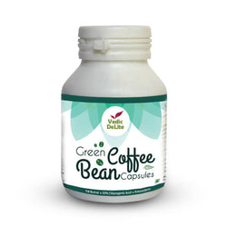 Vedic Delite Green Coffee Bean 600mG 30 Capsules With CGA For Weight Control