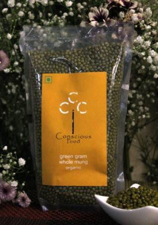Conscious Food Green Gram (Whole Mung) 500Gms