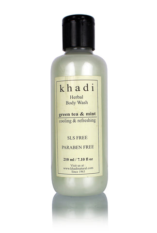 Khadi Green Tea and Mint Body Wash - SLS & Paraben Free