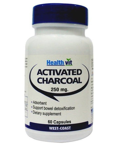 Healthvit Charcoal Activated 250mg 60 Capsules
