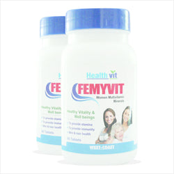 HealthVit FEMYVIT A to Z Women Multivitamin Minerals 60 Tablets - Pack of 2