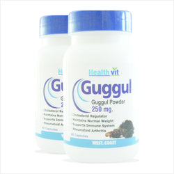 Healthvit Guggul Powder Cholesterol & Weight Loss 250mg 60 Capsules pack of 2