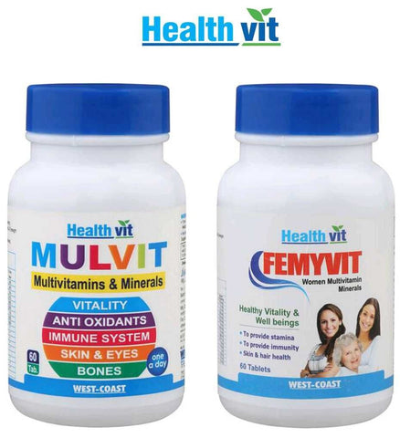 Healthvit Multivitamins for Men & Women Combo
