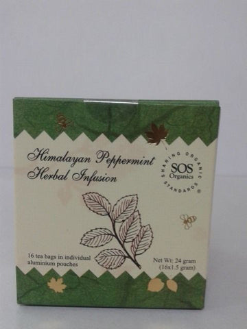 SOS Organics Himalayan Peppermint Herbal Infusion 24 gm