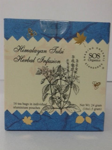 SOS Organics Himalayan Tulsi Herbal Infusion 24 gm