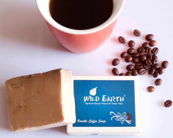 Wild Earth Vanilla Coffee Loofah Natural Soap 100Gms