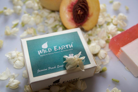 Wild Earth Refreshing Jasmine Peach Soap 100Gms