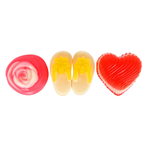 Soap Opera Buy 2 designer soaps & Get 1 Free - Swirled Heart+ Small Slipper+ Rose (Free) 330 gm