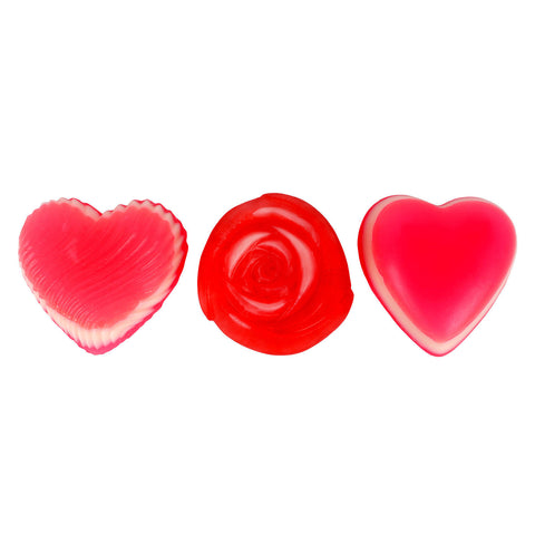 Soap Opera Buy 2 designer soaps & Get 1 Free - Swirled Heart+ Rose+ Plain Heart (Free) 330 gm