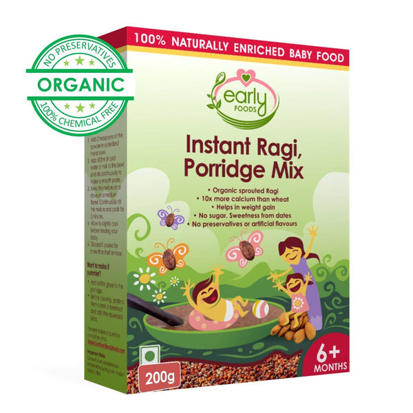 Early Foods Instant Ragi Porridge Mix (Plain) 200g