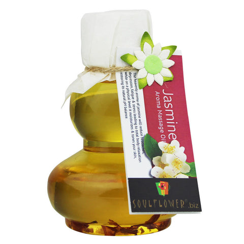 Soulflower Jasmine Aroma Massage Oil - 90 ml